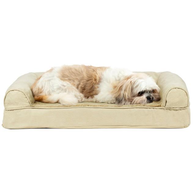 FurHaven Plush & Suede Cooling Gel Sofa Pet Bed