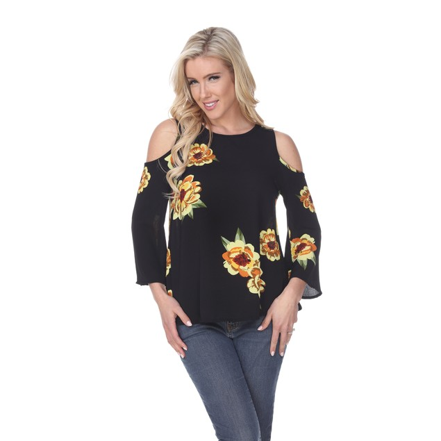 White Mark Lorain Cold Shoulder Top - 4 Colors