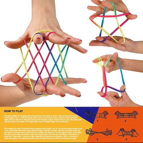 Zummy Cradle String Game Finger Twister Fun Game