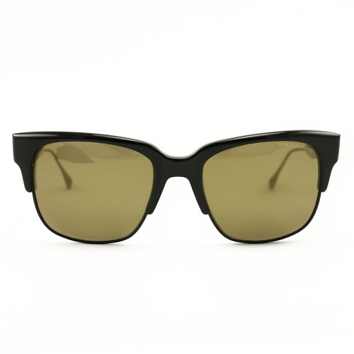 DITA Sunglasses DRX 19014 B Traveller Black/Brown Gold Acetate 55