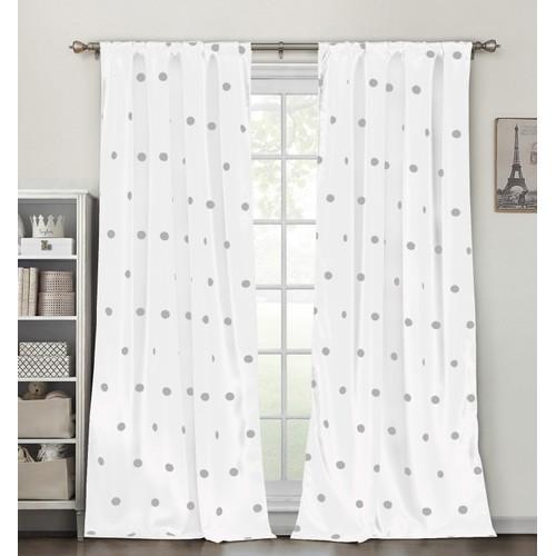 Polka Dots Blackout Window Curtain Pair Panel - Set of 2