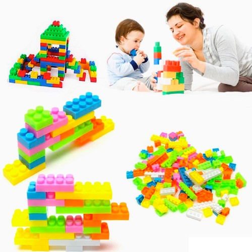 144-Piece Set: Kids' Colorful Toy Building Blocks