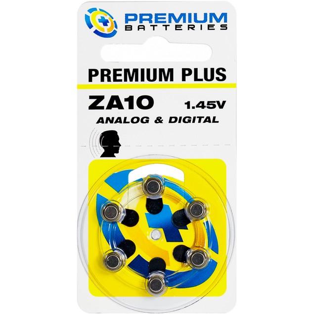 Premium Batteries Size 10 Zinc Air Hearing Aid Batteries (60 pack)