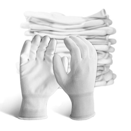 12 Pairs EvridWear Ultralight Breathable Waterproof PU Coated Gloves