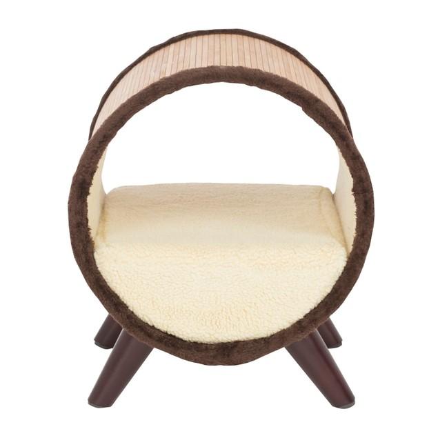 Offex Tubular Pet Bed - Bamboo/Vanilla