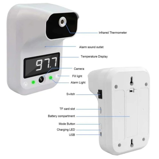 iPM Wall Mounted Non-Contact Infrared Photo Thermometer