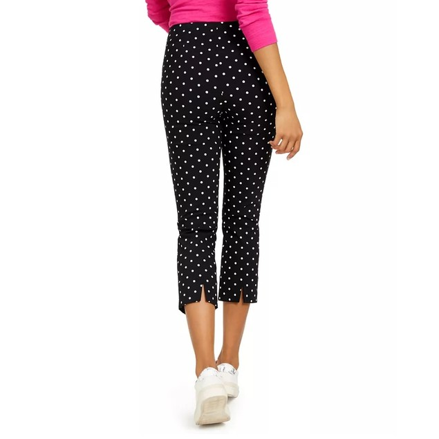 Charter Club Women's Capri Tummy-Control Skinny Pants Black Size 6