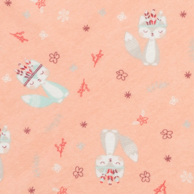 Trend Lab Fox and Flowers Deluxe Flannel Kids Crib Sheet