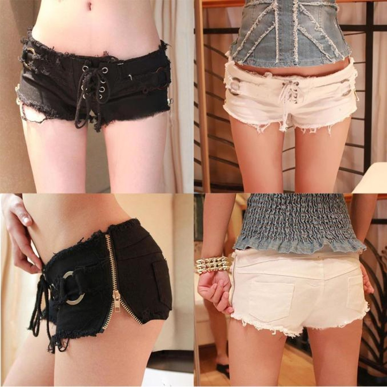 dadc3bb54 Sexy Women Denim Jeans Shorts Pants Low Waist Super Mini Short Pants ...