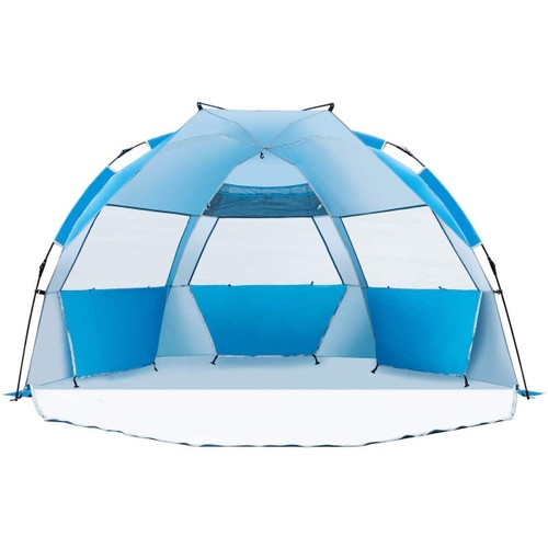 Deluxe Large Easy Up Beach Cabana Tent Sun Shelter, Blue