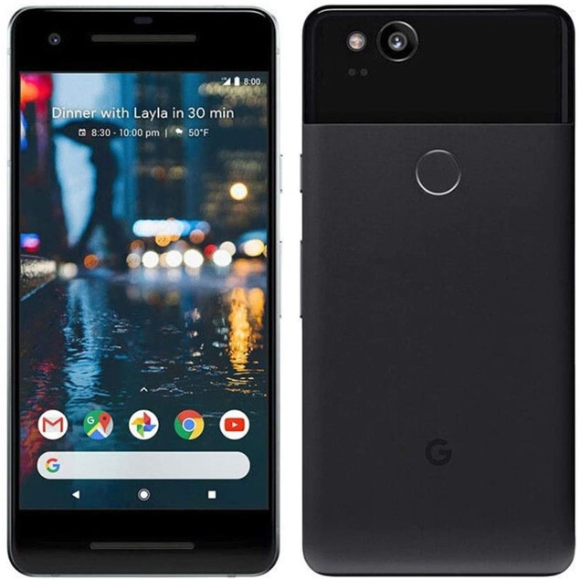 "Google Pixel 2 XL 64GB 6"" 4G LTE, Just Black (Refurbished)"