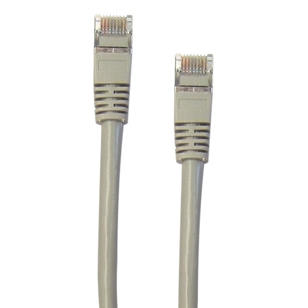 Shielded Cat5e Gray Ethernet Cable, Snagless/Molded Boot, 5 foot