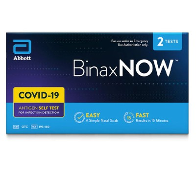 BinaxNOW COVID-19 Antigen Self-Test at Home Kit Was: $69.99 Now: $46.99.