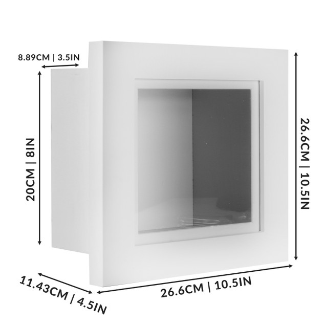 "MandW 3D Box Frame White 8"" x 8"""