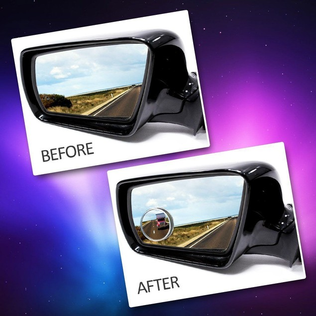"Zone Tech 4x 2"" Round Rear-view Blind Spot Convex Wide Angle Mirrors"