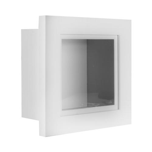"3D Box Frame | MandW White 8"" x 8"""