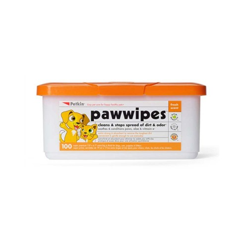 Petkin Paw Wipes 100 count