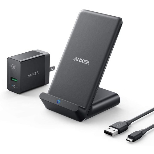 Anker PowerWave Wireless Qi Charging Bundle (Stand, Cable, Adapter)