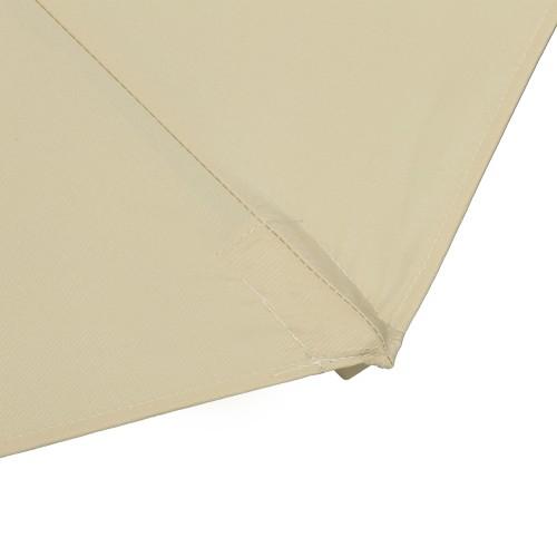 10 ft Outdoor Porch Umbrella w/ UV-Fighting Polyester & Aluminum Pole