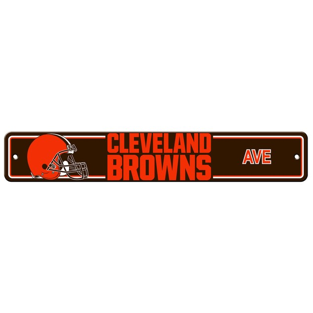 """Cleveland Browns Ave Street Sign 4""""x24"""""""