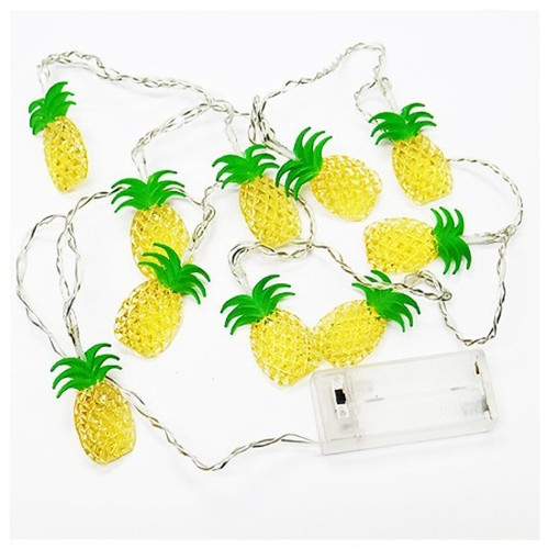 Garden Party Pineapples String Warm White Lights Set for Indoor Use, 10