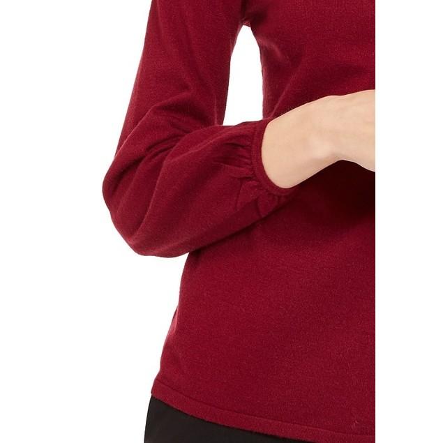 Alfani Women's Embellished Mock-Neck Sweater Wine Size Small