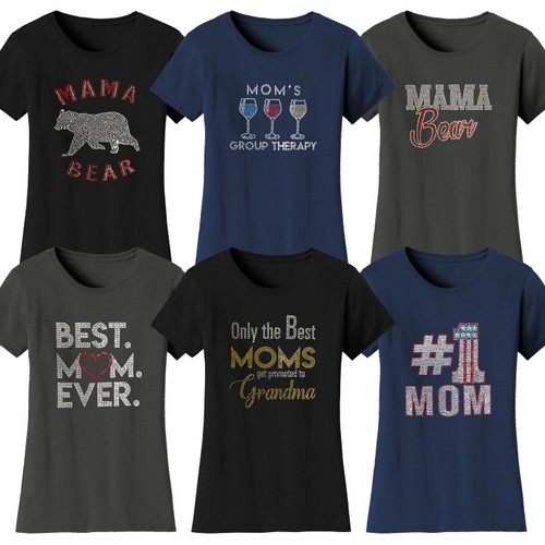 Women's Mother's Day Rhinestone Bling T-Shirts