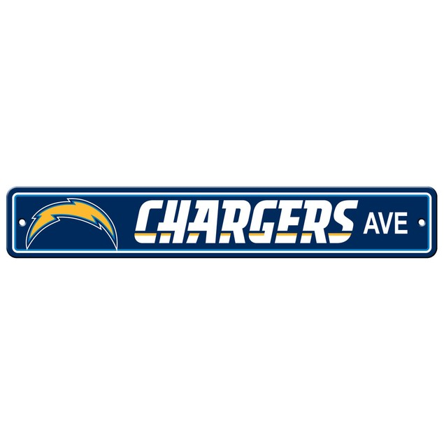 """Los Angeles Chargers Ave Street Sign 4""""x24"""""""
