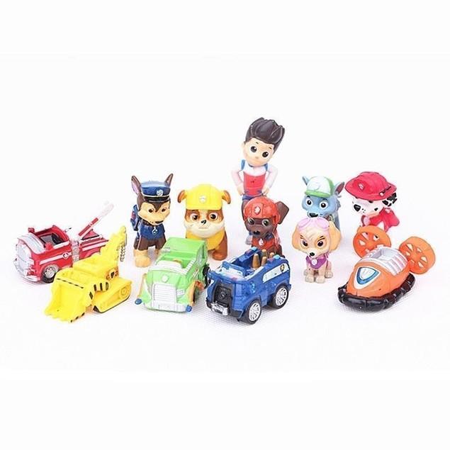PAW Patrol Dog Puppy Rescue Movie Toys For Kids 12 pcs