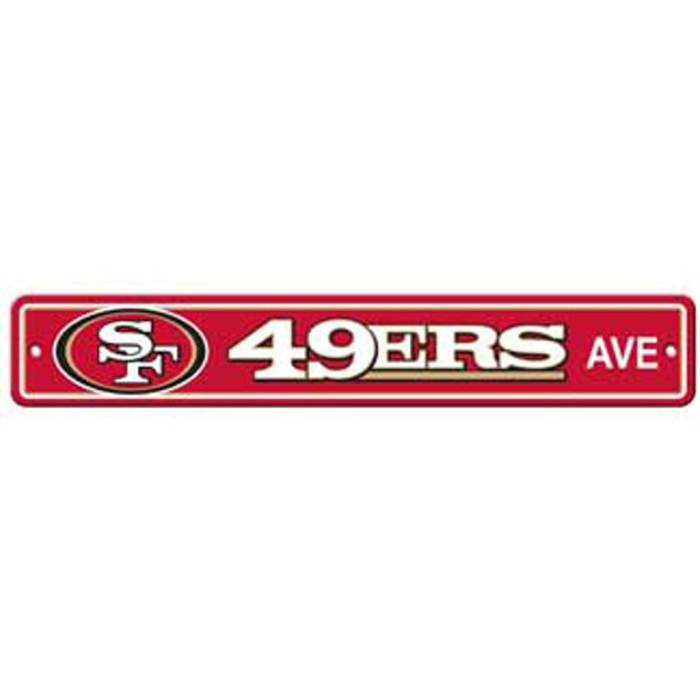 "San Francisco 49ers Ave Street Sign 4""x24"" NFL Football Team Logo Man Cave"