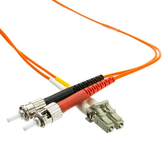 Fiber Optic Cable, LC / ST, Multimode, Duplex, 62.5/125, 3 meter (10 foot)
