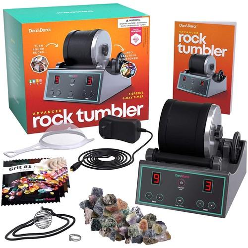 Advanced Professional Rock Tumbler Kit - Digital 9-day Polishing Timer & 3 Speed Settings
