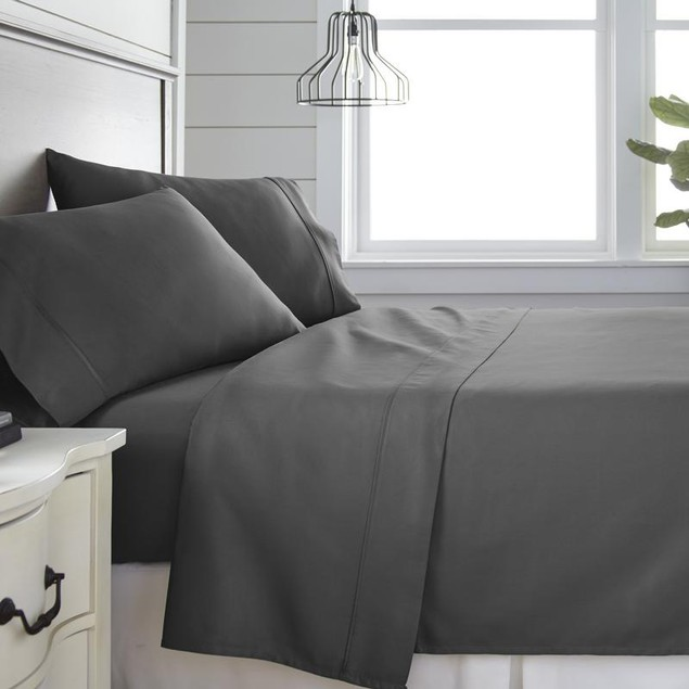 Home Collection 300 Thead Count 4 Piece Bed Sheet Set - 100% Cotton