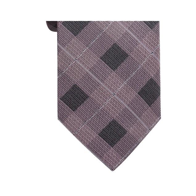 Ryan Seacrest Men's Clemson Slim Plaid Silk Tie Pink Size Regular