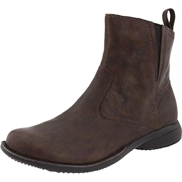 Womens Merrell Waterproof Leather Ankle Boots Brown J45008 SIZE 5 (22C
