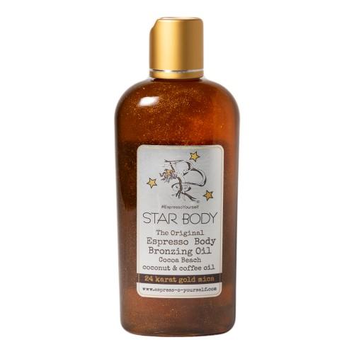 Star Body Espresso Bronzing Oil, Made with Coconut & Coffee Oil