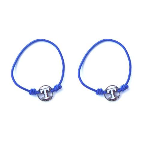 MLB Texas Rangers Stretch Bracelet/Hair Tie Set