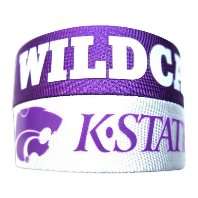 Kansas State Wildcats Slap Snap Wrap Wrist Band (Set of 2) NCAA