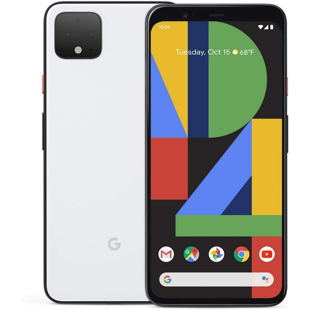 Google Pixel 4 XL, Unlocked, Grade A, White, 64 GB, 6.3 in Screen