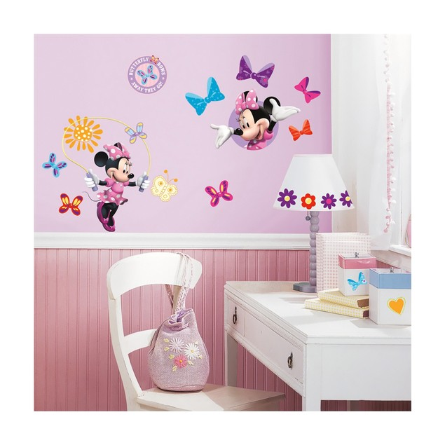 Roommates Nursery Baby Room Wall Decor Minnie Mouse Bow-tique Wall Decals