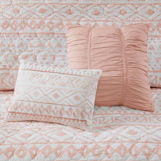 Urban Habitat Larisa 7 Pc Reversible Coverlet Set, King/California King,