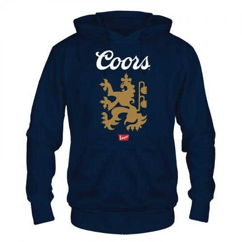 Coors Banquet Lion Logo Blue Hoodie