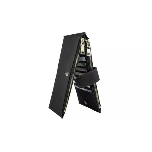 RFID Blocking Bifold Multi Card Case Wallet with Zipper Pocket