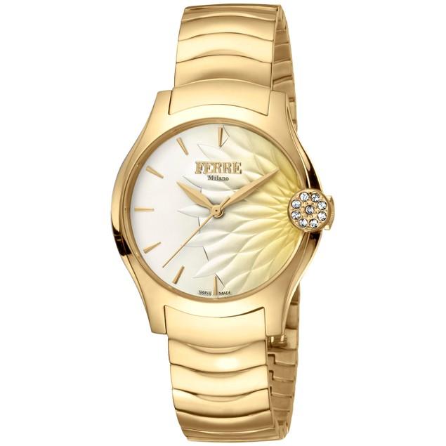 Ferre Milano Women's Classic Champagne Dial Watch - FM1L121M0061