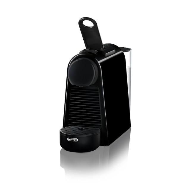 Nespresso Essenza Mini Machine + Aeroccino Frother by De'Longh - Black