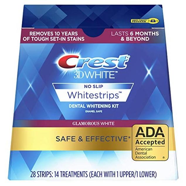 Crest 3D White Glamorous White Whitestrips Dental Teeth Whitening