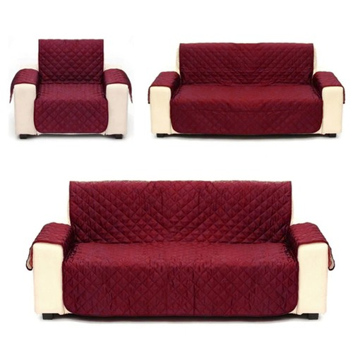 Premium Reversible Quilted Sofa Cover, Nonslip, Pet Hair Protector