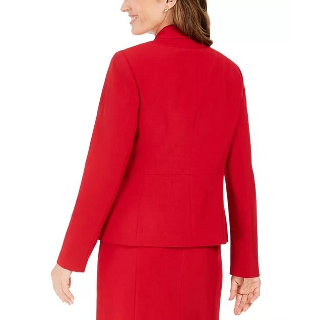 Kasper Women's Petite Notched-Lapel Blazer Red Size 12