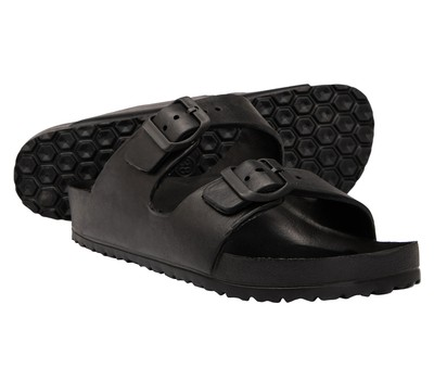Brown Oak Women's Comfort Slides Double Buckle Adjustable EVA Flat Sandals- 6 Colors Was: $59.99 Now: $14.99.