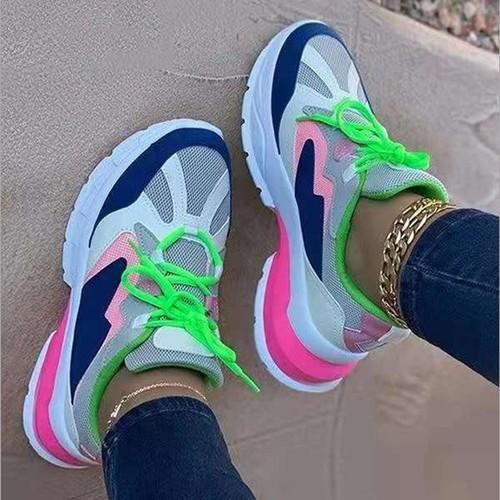 Women's Flat Platform Mesh Slip-on Shoes